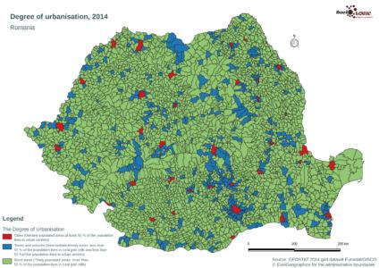 Degree of Urbanisation, 2014